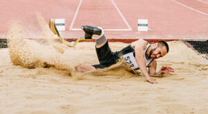 Para Athlete Long Jump