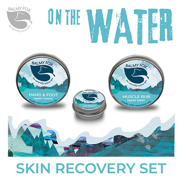 Watersports skin recovery,swimmers,sailors,surfers and kayakers