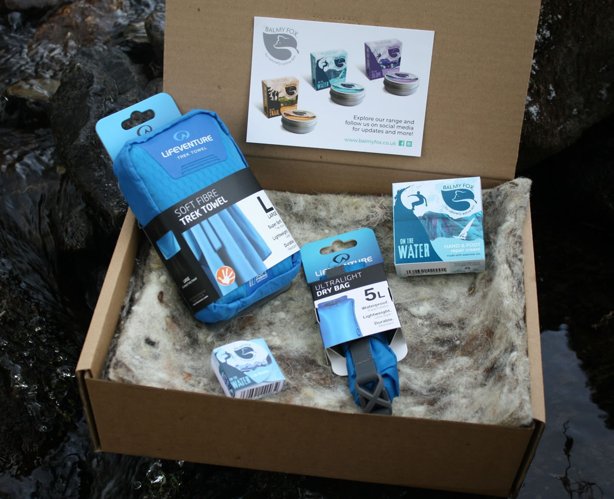 Dry pack gift sets for swimmers,surfers,sailors and kayakers